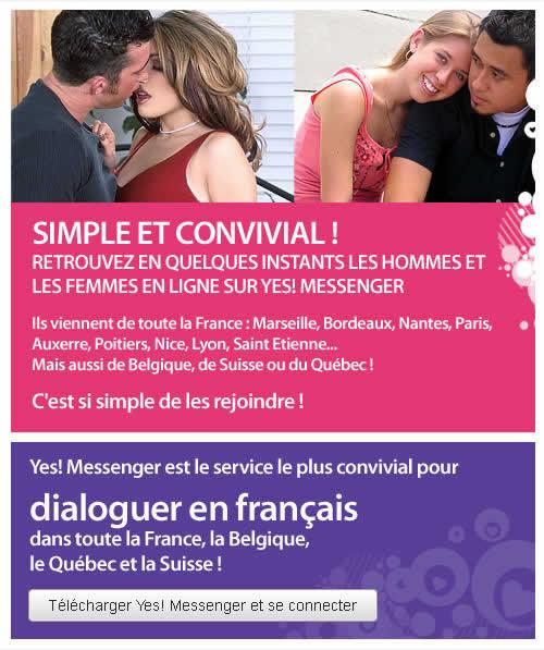 Hommes et femmes peuvent dialoguer librement avec les milliers de membres connectés avant de se rencontrer !